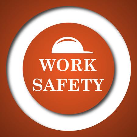 Work safety icon. Internet button on white background.