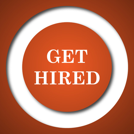 now hiring: Get hired icon. Internet button on white background.