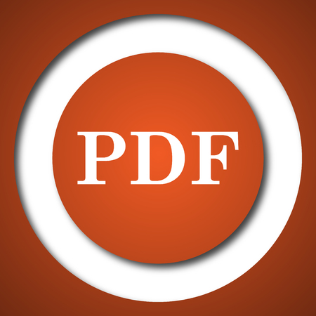 PDF icon. Internet button on white background.