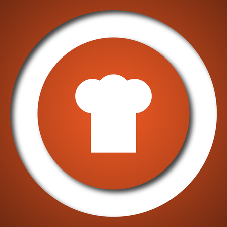 Chef icon. Internet button on white background.