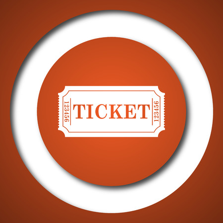 Cinema ticket icon. Internet button on white background. Stock Photo