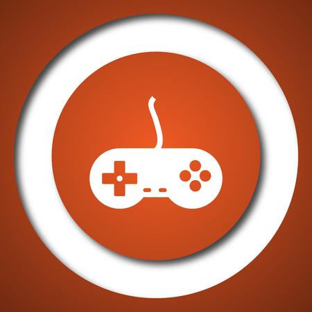 Gamepad icon. Internet button on white background. Stock Photo
