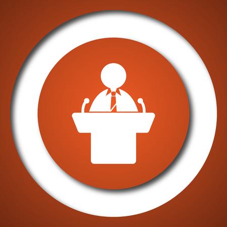 Speaker icon. Internet button on white background. Stock Photo