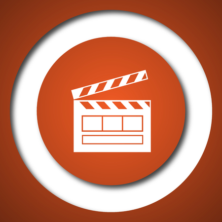 Movie icon. Internet button on white background.