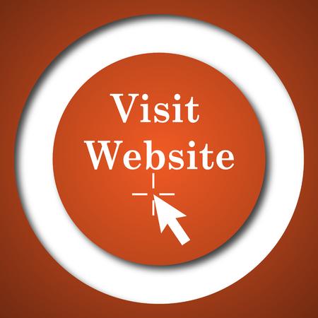 host: Visit website icon. Internet button on white background. Stock Photo
