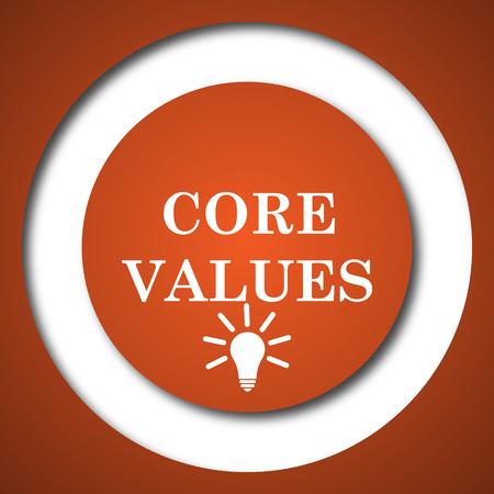 Core values icon. Internet button on white background.