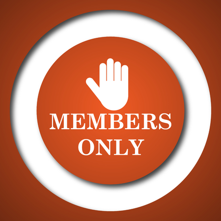 closed community: Members only icon. Internet button on white background.