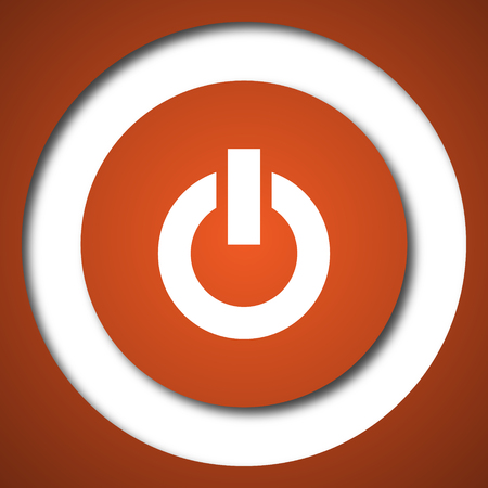 Power button icon. Internet button on white background.