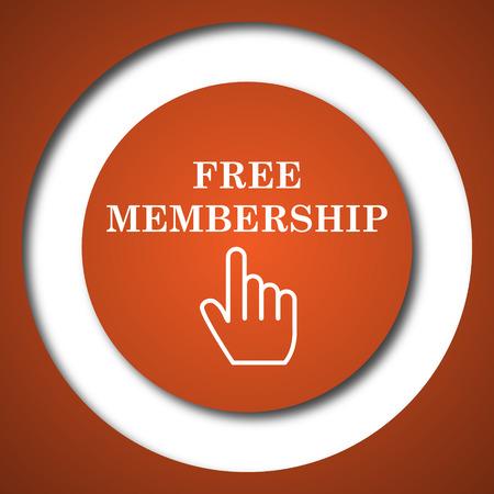 subscriber: Free membership icon. Internet button on white background. Stock Photo