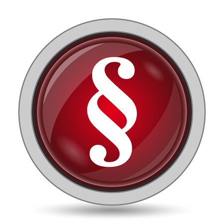 judgments: Paragraph icon. Internet button on white background. Stock Photo