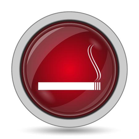 interdiction: Cigarette icon. Internet button on white background.