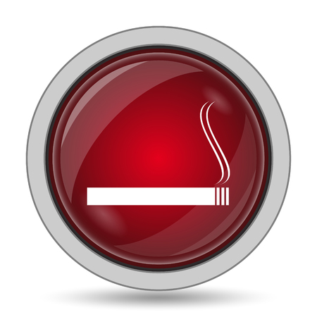 abstain: Cigarette icon. Internet button on white background.