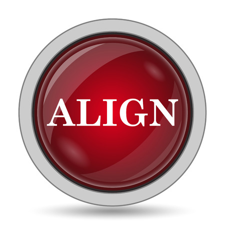 align: Align icon. Internet button on white background. Stock Photo