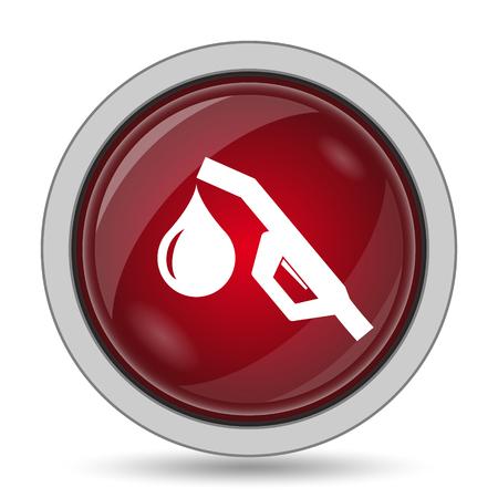 nozzle: Gasoline pump nozzle icon. Internet button on white background. Stock Photo