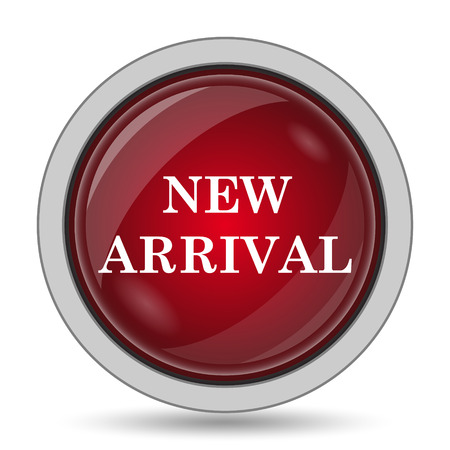 new arrivals: New arrival icon. Internet button on white background.