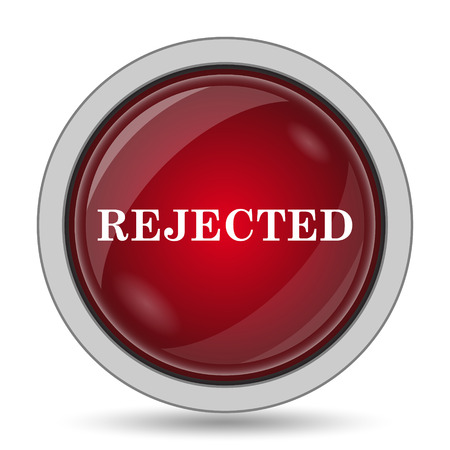 rejected: Rejected icon. Internet button on white background.