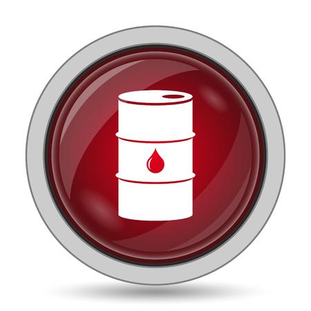 barrell: Oil barrel icon. Internet button on white background. Stock Photo