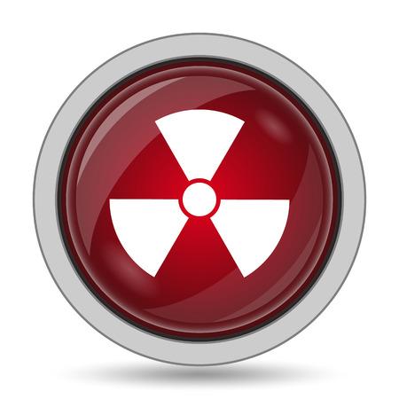 caution chemistry: Radiation icon. Internet button on white background.