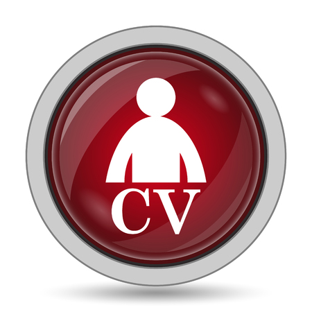 vacant: CV icon. Internet button on white background.