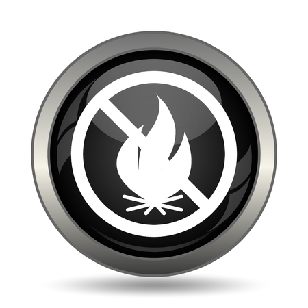 open flame: Fire forbidden icon. Internet button on white background. Stock Photo