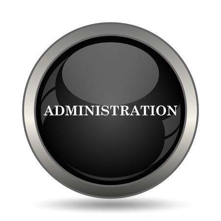 administration: Administration icon. Internet button on white background. Stock Photo