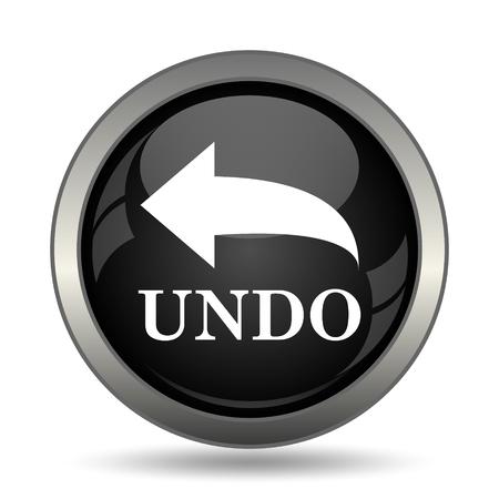undo: Undo icon. Internet button on white background. Stock Photo