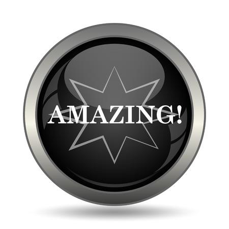amazing: Amazing icon. Internet button on white background.