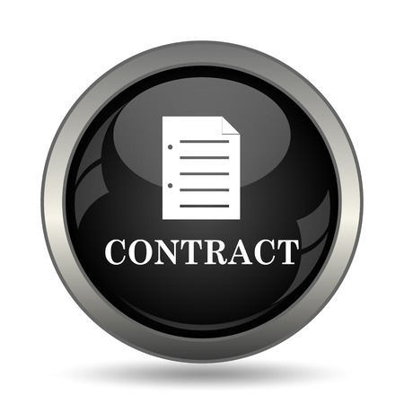 contraction: Contract icon. Internet button on white background.