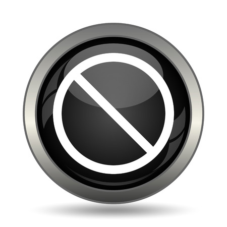forbidden: Forbidden icon. Internet button on white background. Stock Photo