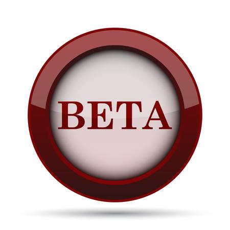 beta: Beta icon. Internet button on white background. Stock Photo