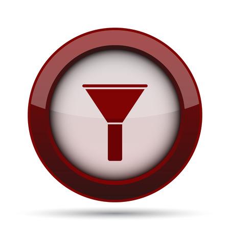 bottleneck: Filter icon. Internet button on white background. Stock Photo