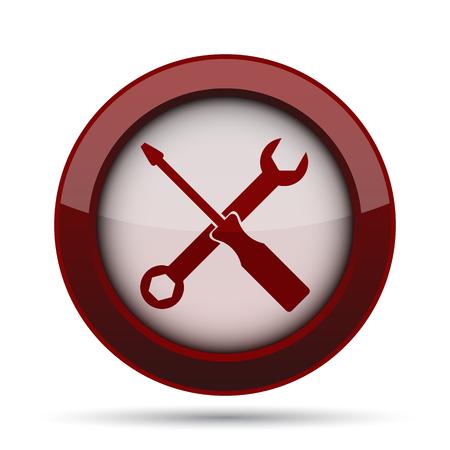Tools icon. Internet button on white background.