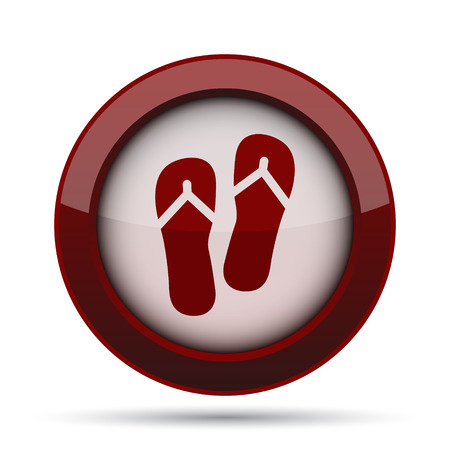 Slippers icon. Internet button on white background.