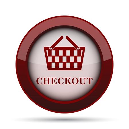checkout: Checkout icon. Internet button on white background.