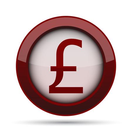 uk money: Pound icon. Internet button on white background.