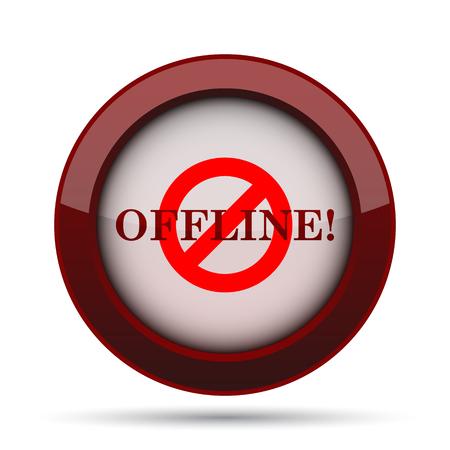 offline: Offline icon. Internet button on white background.