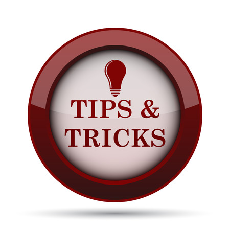 suggestion: Tips and tricks icon. Internet button on white background.