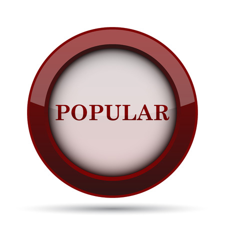 most popular: Popular  icon. Internet button on white background. Stock Photo