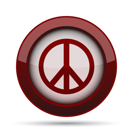 Peace icon. Internet button on white background.