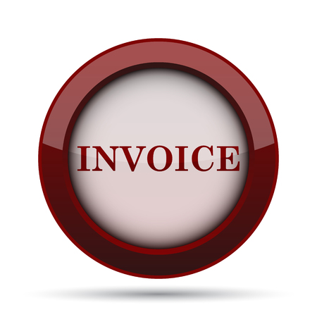 billing: Invoice icon. Internet button on white background.