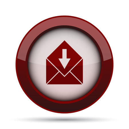 outlook: Receive e-mail icon. Internet button on white background.