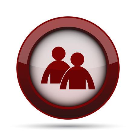 Mentoring icon. Internet button on white background.