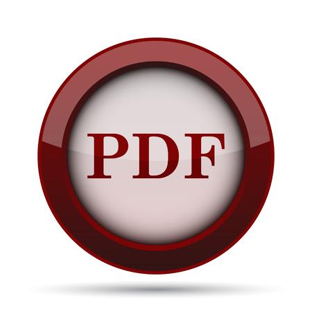 archive site: PDF icon. Internet button on white background.