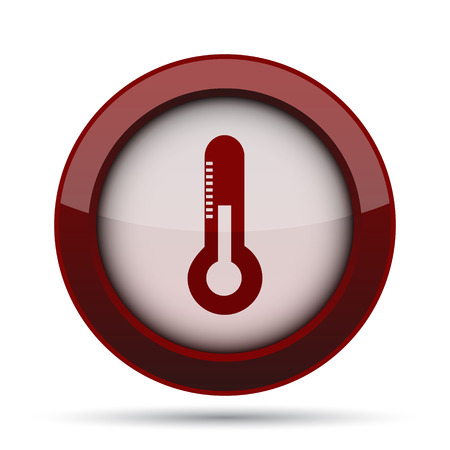 rising temperature: Thermometer icon. Internet button on white background.