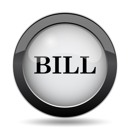 accounts payable: Bill icon. Internet button on white background.