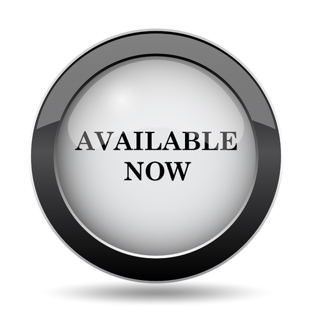 available: Available now icon. Internet button on white background.