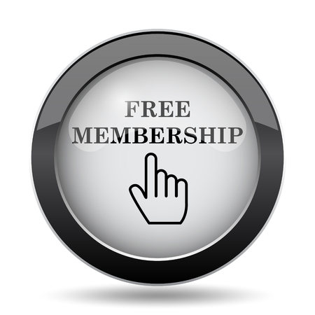 subscriber: Free membership icon. Internet button on white background. Stock Photo