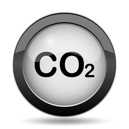 co2: CO2 icon. Internet button on white background.
