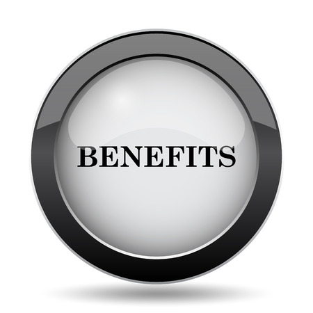 advantages: Benefits icon. Internet button on white background. Stock Photo