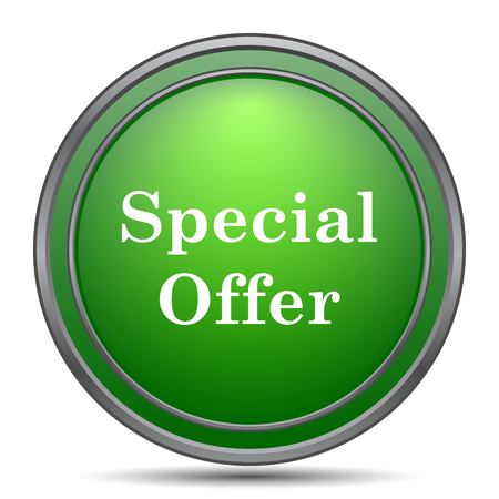 bargains: Special offer icon. Internet button on white background. Stock Photo